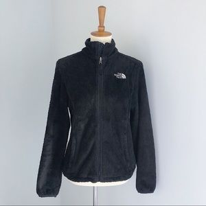 The North Face Black Fur Style Zip Up Size Small